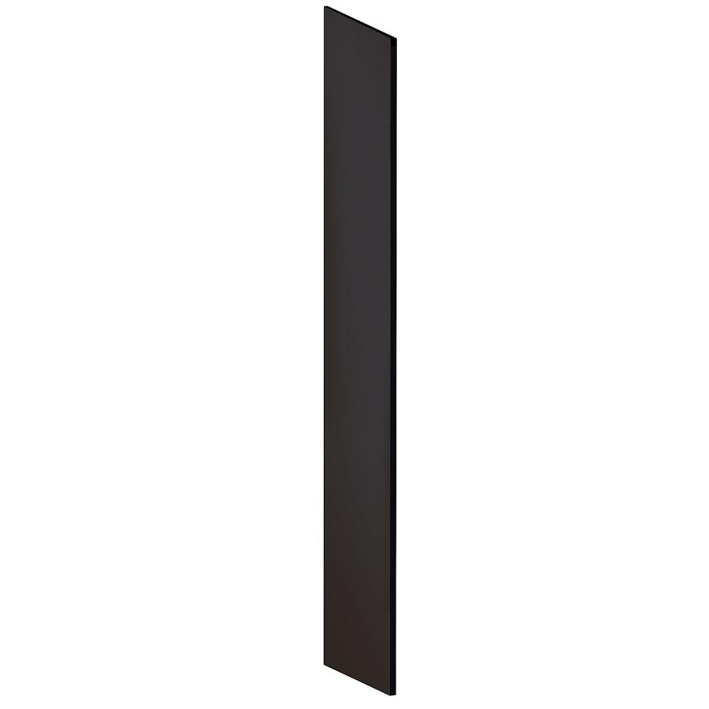 Salsbury Industries Laminate Side Panel for 18 in. D Extra Wide Designer Wood Locker with Sloping Hood in Black