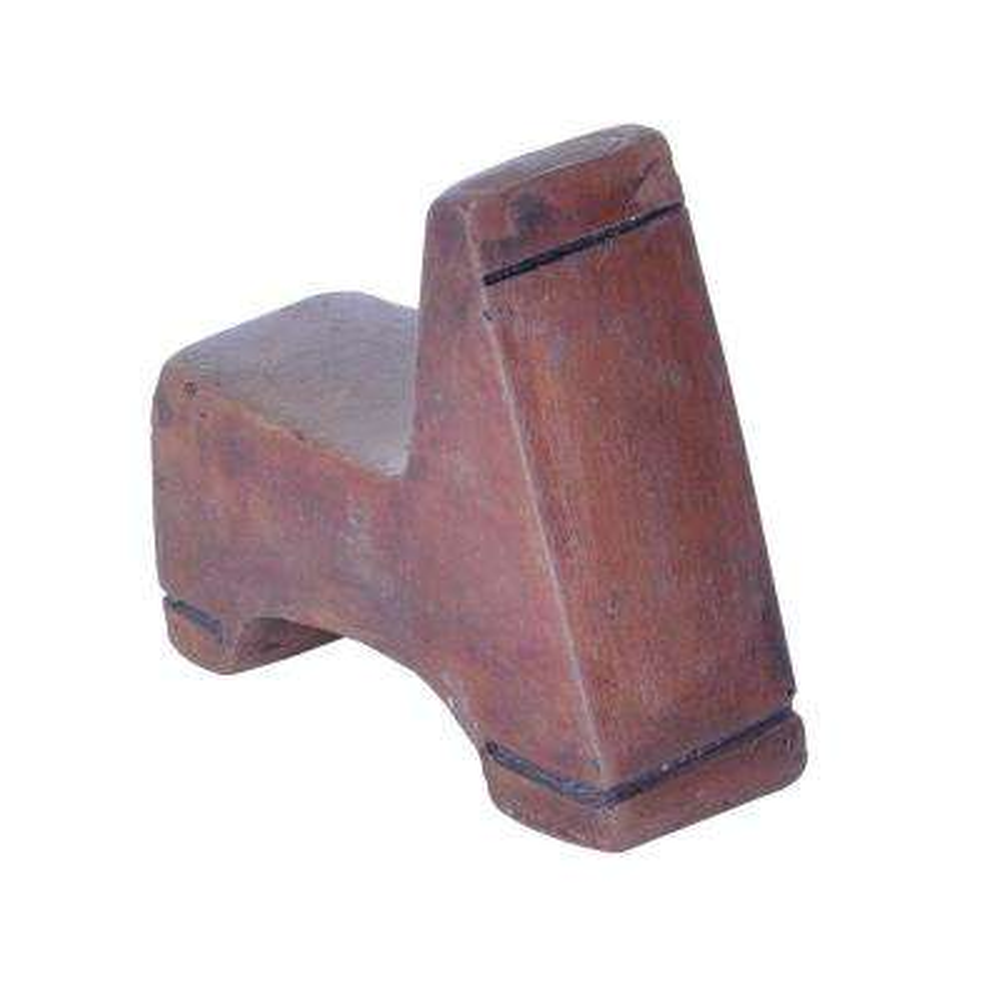 1.5 in. W Composite Pot Feet in Dark Brown (Set of 3)