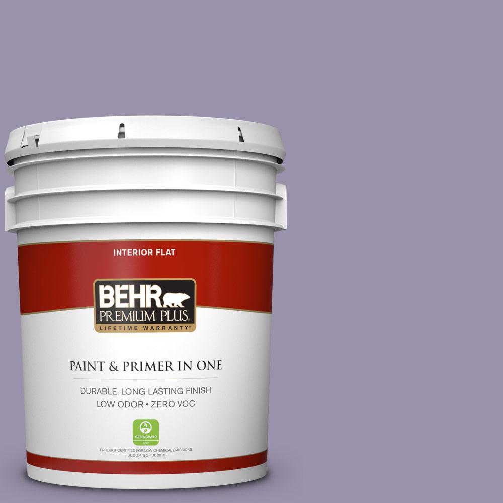 BEHR Premium Plus 5-gal. #650F-4 Delectable Zero VOC Flat Interior Paint