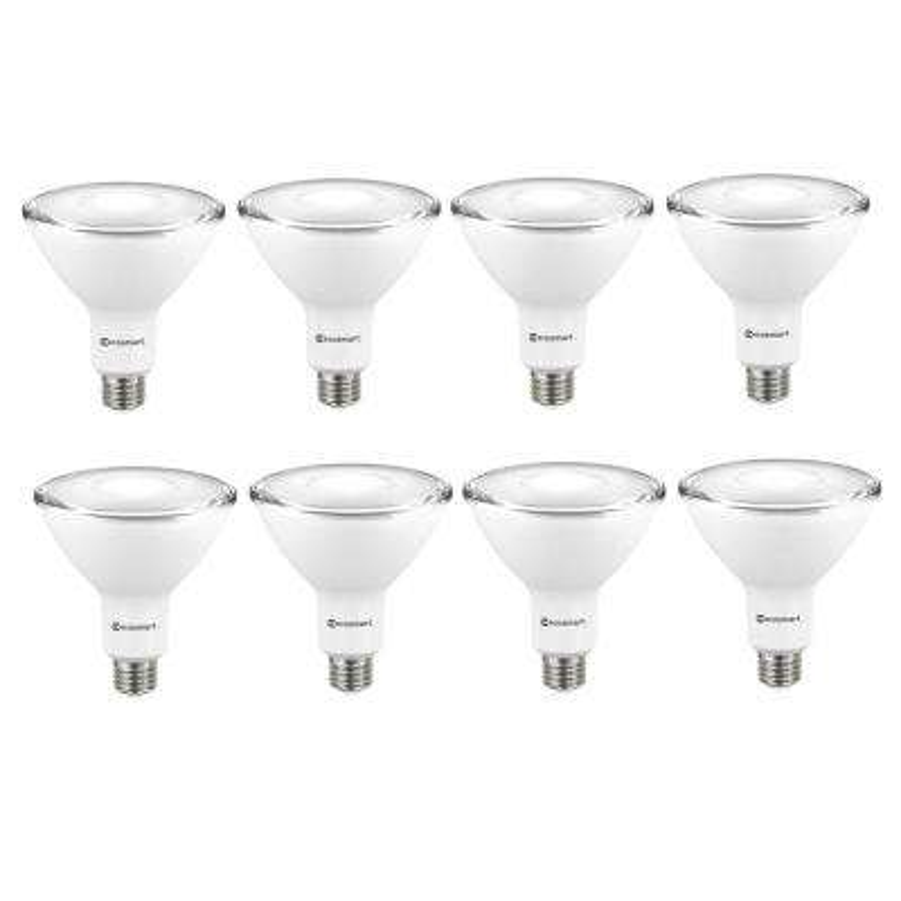 90-Watt Equivalent PAR38 Non-Dimmable LED Flood Light Bulb, Bright White (8-Pack)