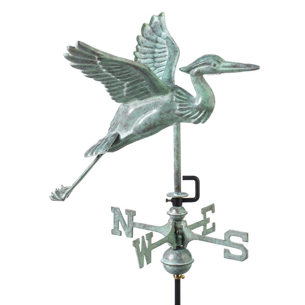 Good Directions Blue Heron Garden Weathervane - Blue Verd...