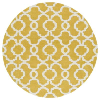 Kaleen Revolution Yellow 8 ft. x 8 ft. Round Area Rug