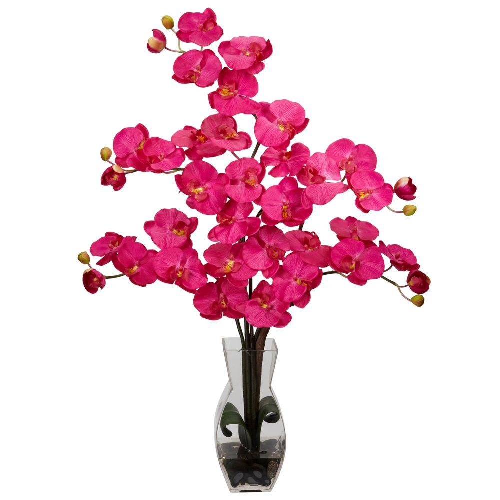 29 in. H Beauty Phalaenopsis with Vase Silk Flower Arrangement