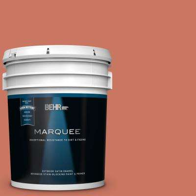 5 gal. #MQ4-33 Aloe Blossom Satin Enamel Exterior Paint and Primer in One