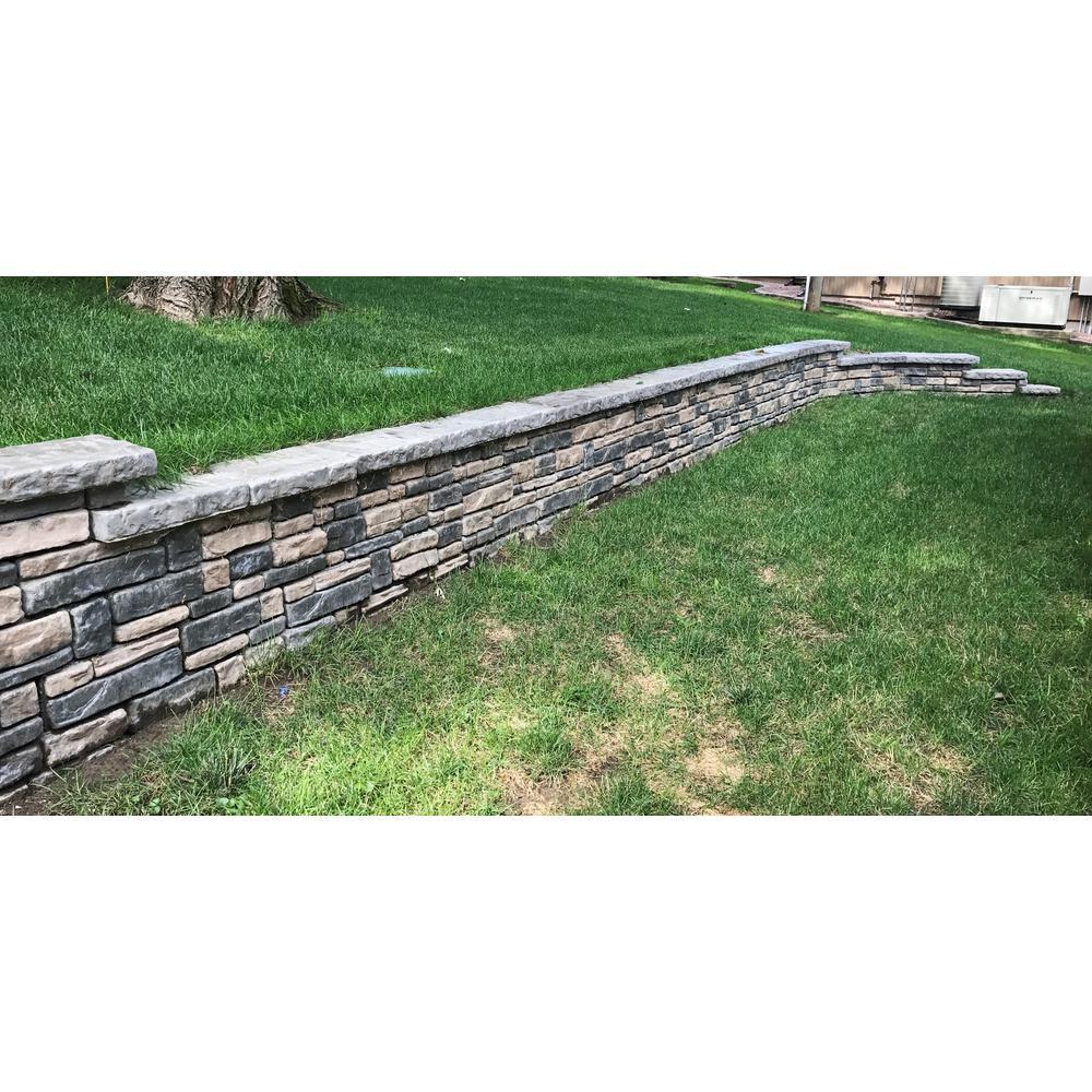 Panama 12 in. x 16 in. x 6 in. Limestone Concrete Retaining Wall Full Block