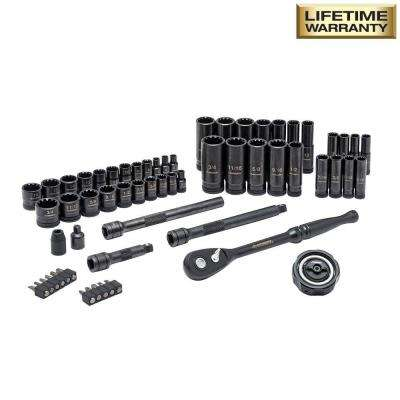 3/8 in. Drive 100-Position Universal SAE and Metric Mechanics Tool Set (60-Piece)
