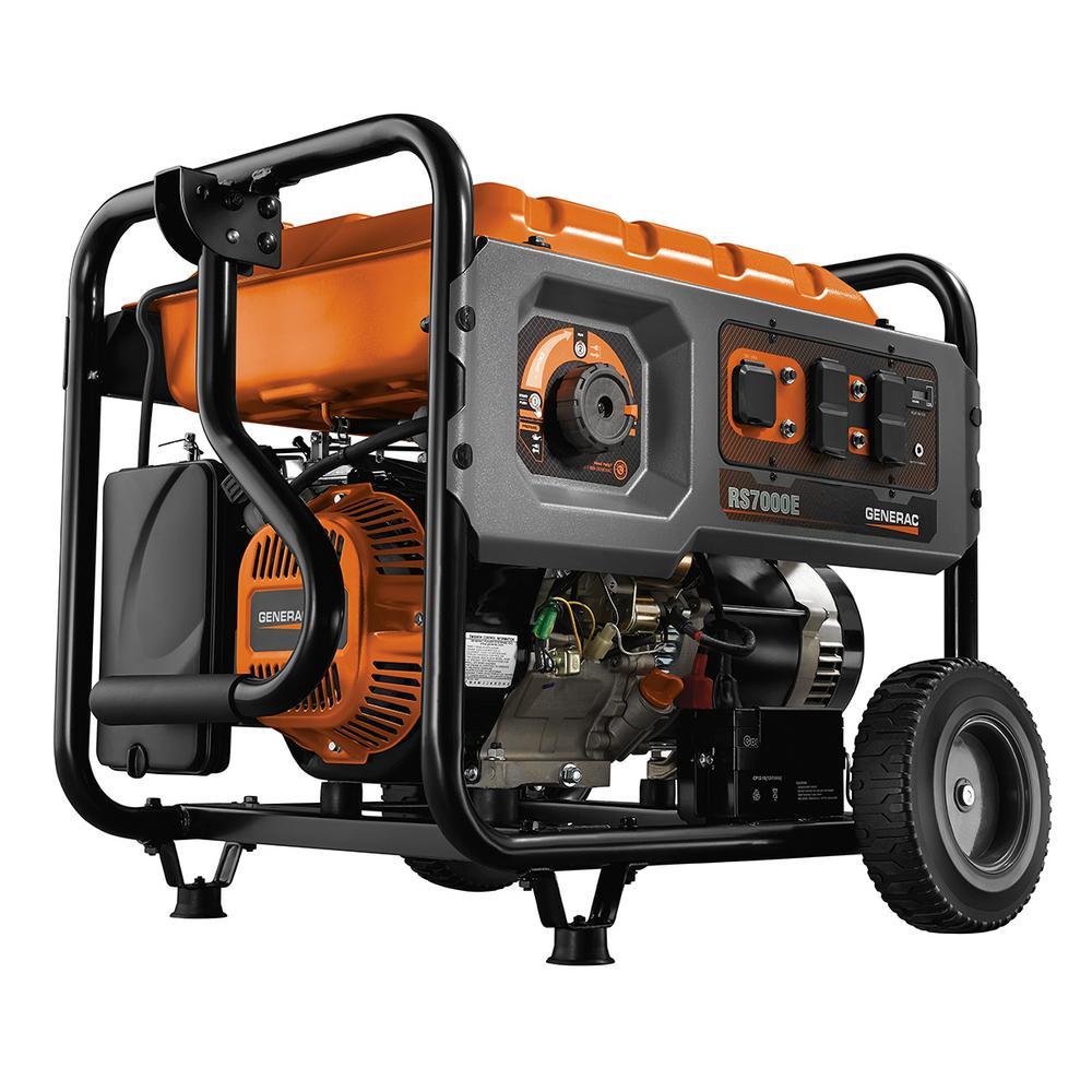 Generac 7000-Watt Gasoline Powered Electric Start Portable Generator with Rapid Start Dial