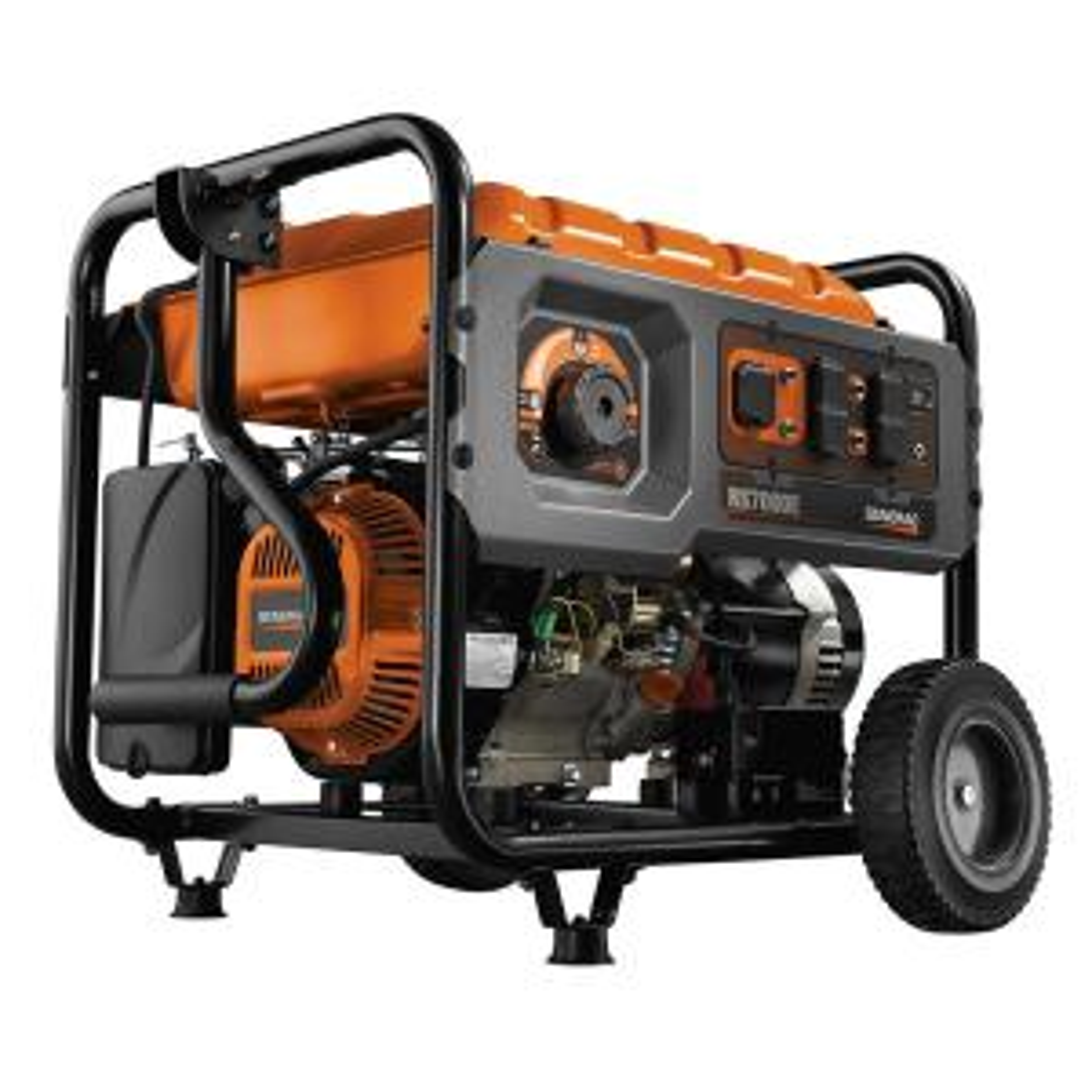 Generac 7,000 Watt Gasoline Powered Electric Start Generator with Rapid Start Dial by Generac