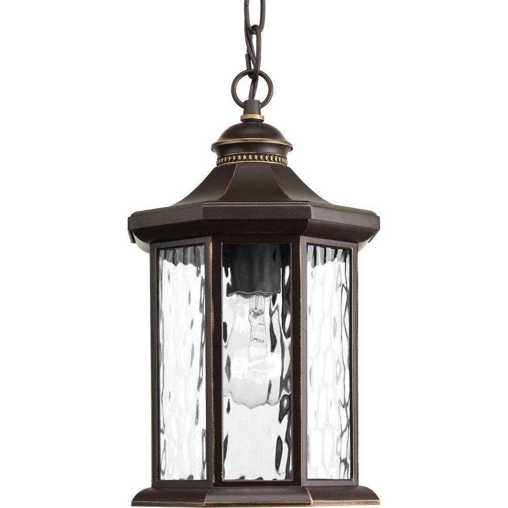 Edition Collection 1-Light Outdoor Antique Bronze Hanging Lantern