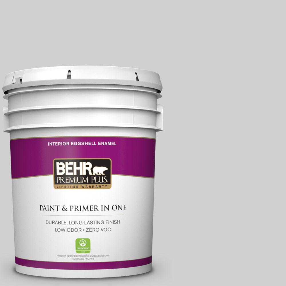 BEHR Premium Plus 5-gal. #N520-1 White Metal Eggshell Enamel Interior Paint