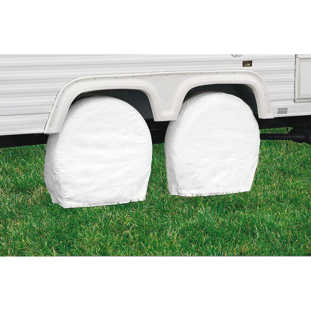 Classic Accessories White RV Wheel Cover, 21