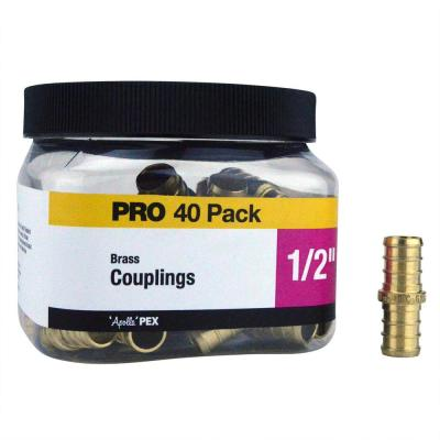 1/2 in. Brass PEX Coupling Pro Pack (40-Pack)
