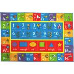 Multi-Color Kids Children Bedroom ABC Alphabet Numbers Shapes Educational Learning 8 ft. x 10 ft. Area Rug