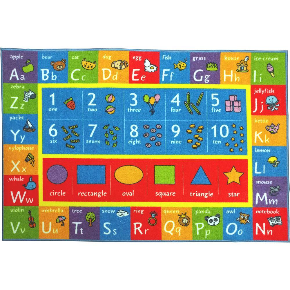 Kc Cubs Multi Color Kids Children Bedroom Abc Alphabet
