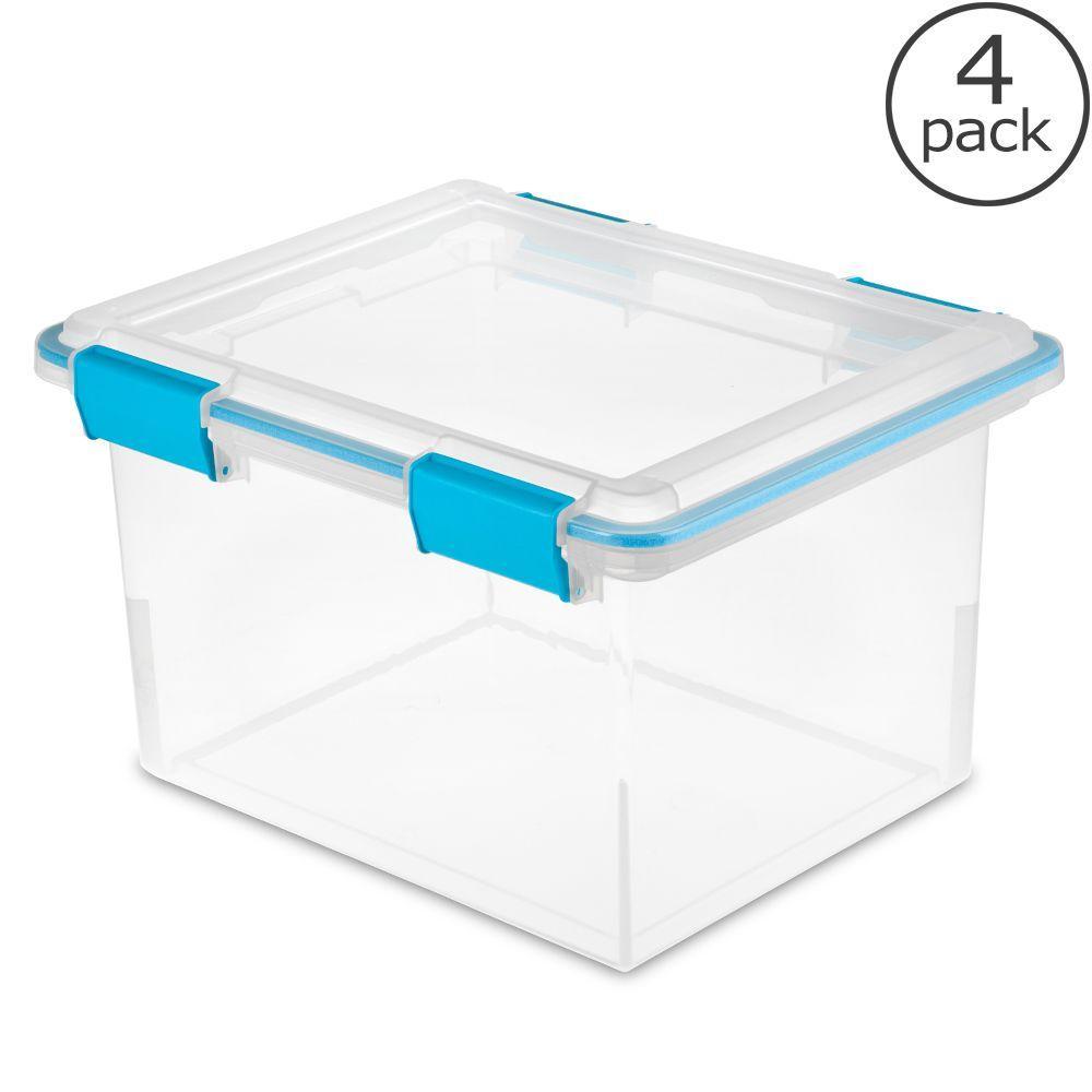 Gentil Sterilite 32 Qt. Gasket Storage Box (4 Pack)