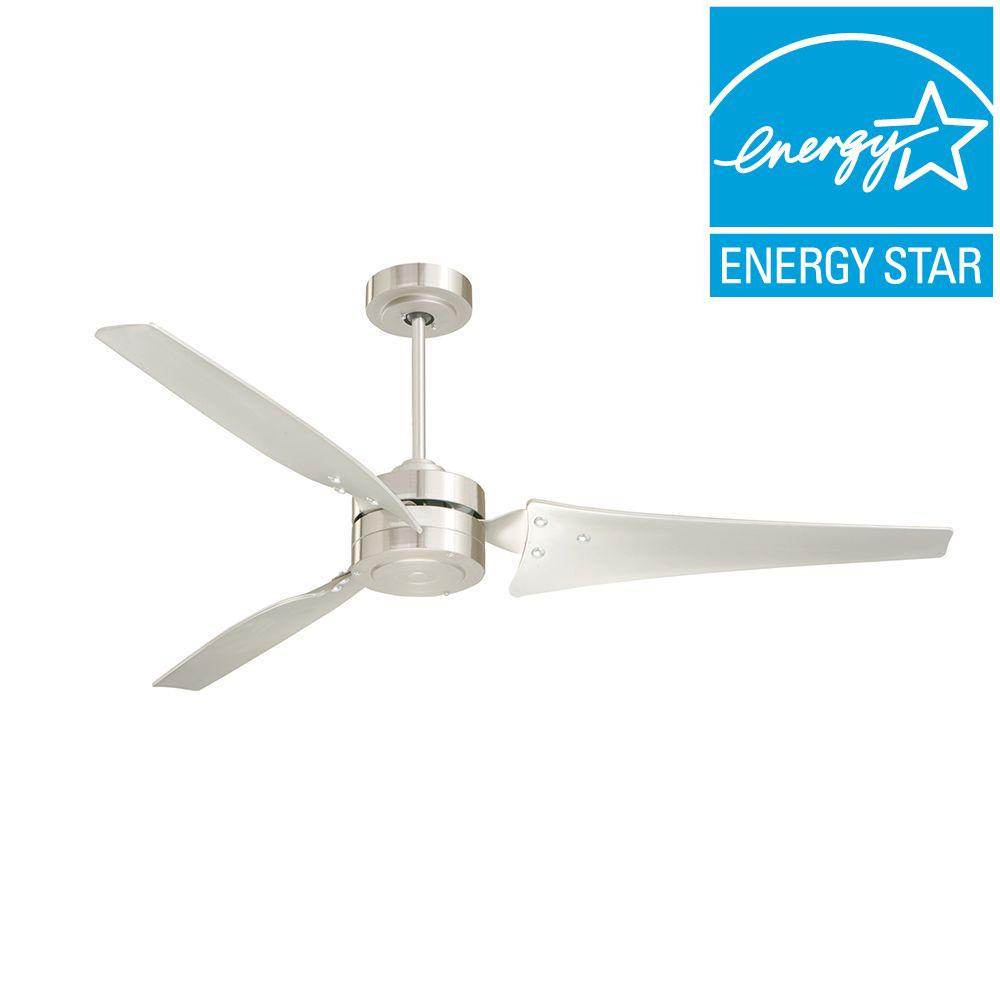 Illumine Zephyr 60 in. Outdoor Brushed Steel Ceiling Fan