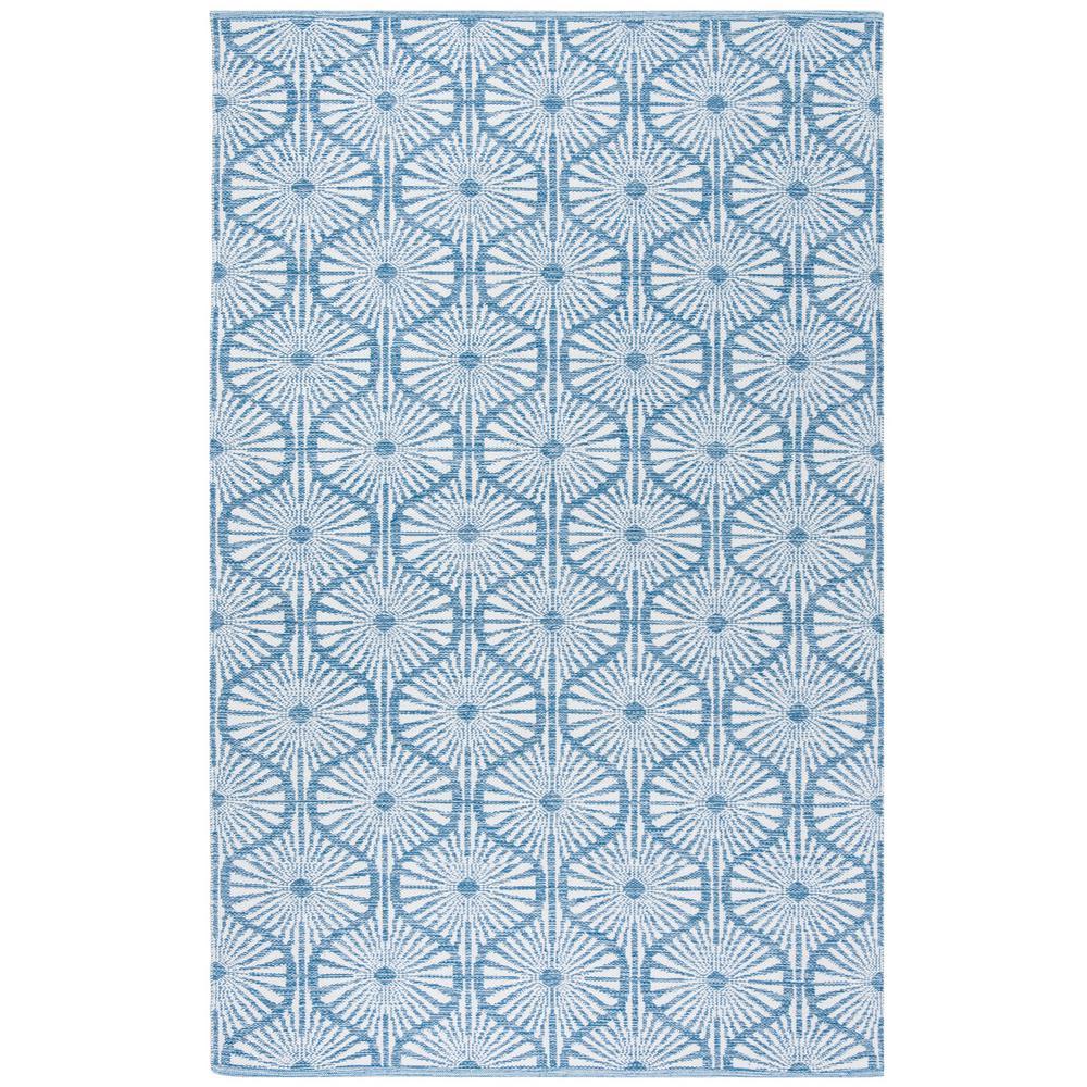 Montauk Blue/Ivory 5 ft. x 8 ft. Area Rug
