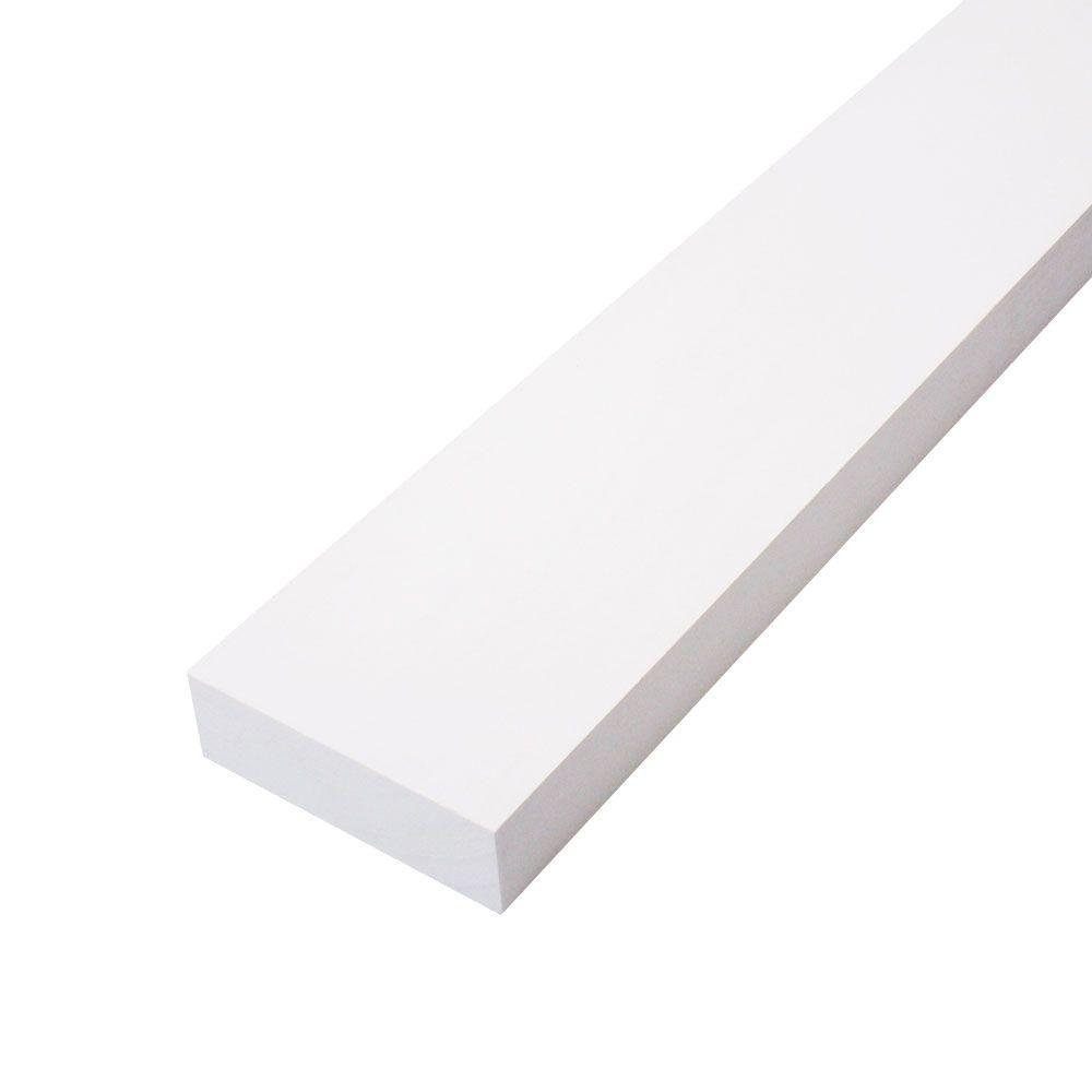 5/4 in  x 4 in  x 12 ft  Primed Finger-Joint Wood Board