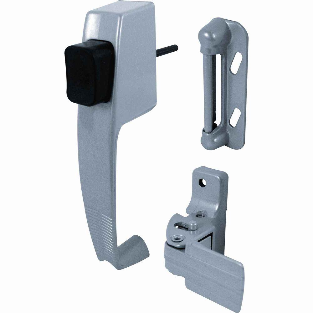 Prime-Line Swinging Screen Door Push-Button Latch  sc 1 st  The Home Depot : door push - pezcame.com