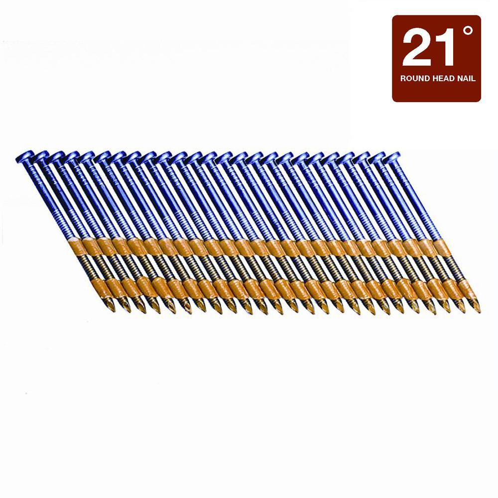 Grip-Rite 3 in. x 0.120 Plastic Exterior Galvanized Ring Shank Nails (1,000