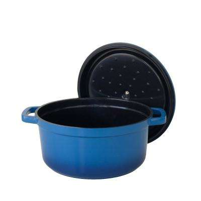 1.41 Qt. Blue Induction-Ready Cast Aluminum Dutch Oven