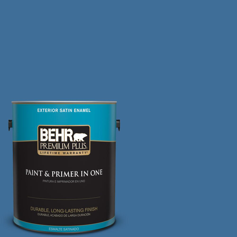 BEHR Premium Plus 1-gal. #M520-6 National Anthem Satin Enamel Exterior Paint