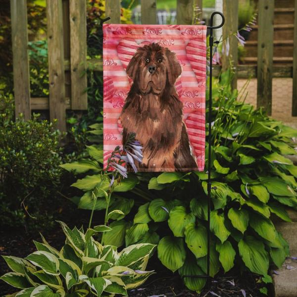 Caroline S Treasures 11 In X 15 1 2 In Polyester Love A Newfoundland 2 Sided 2 Ply Garden Flag Ck1758gf The Home Depot