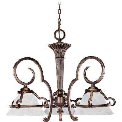 Lenor 3-Light Imperial Bronze Fluorescent Ceiling Chandelier