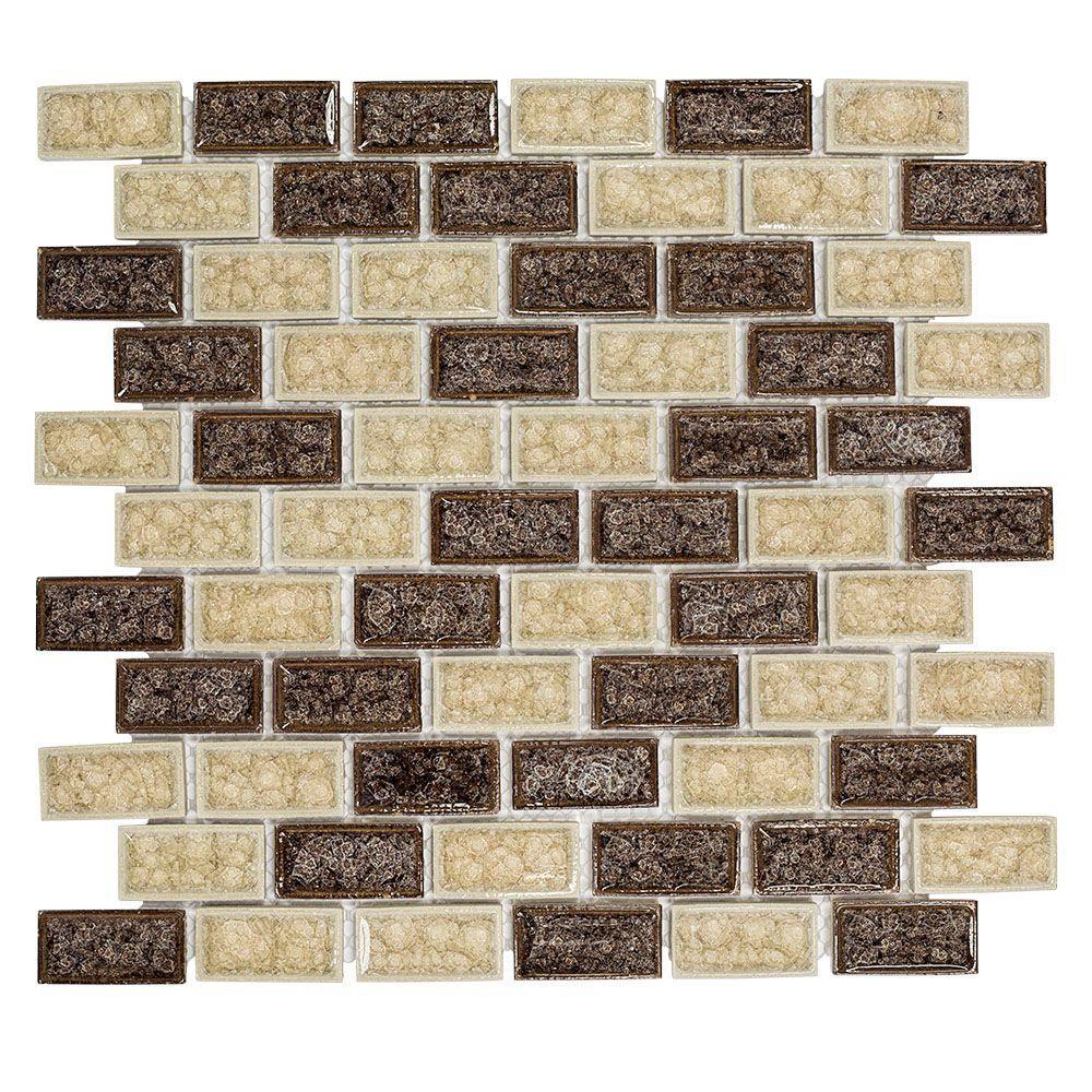 Hazelnut Butter Crackle 12 in. x 12 in. x 8 mm