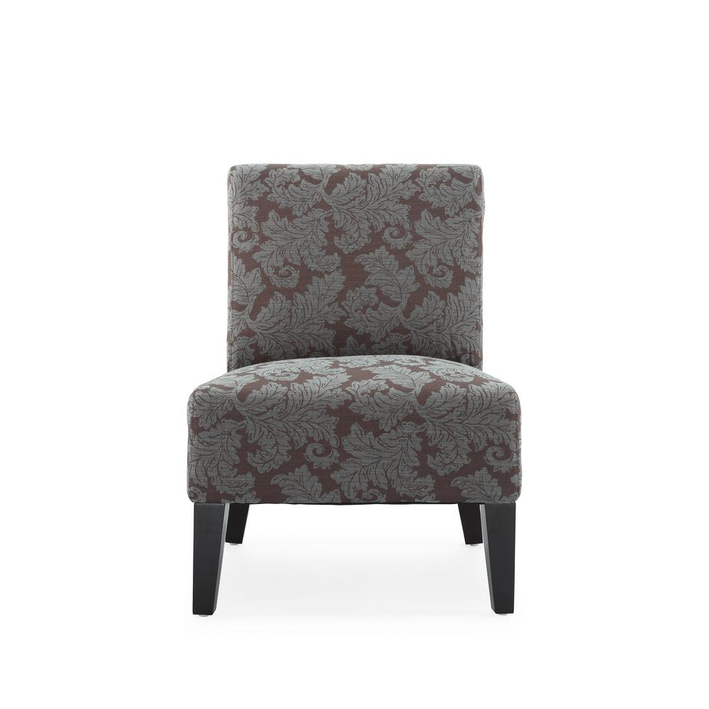 Monaco Aqua Fern Accent Chair