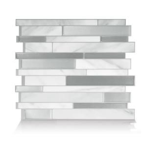 Milano Carrera Beige 11.55 in. W x 9.65 in. H Peel and Stick Self-Adhesive Decorative Mosaic Wall Tile Backsplash