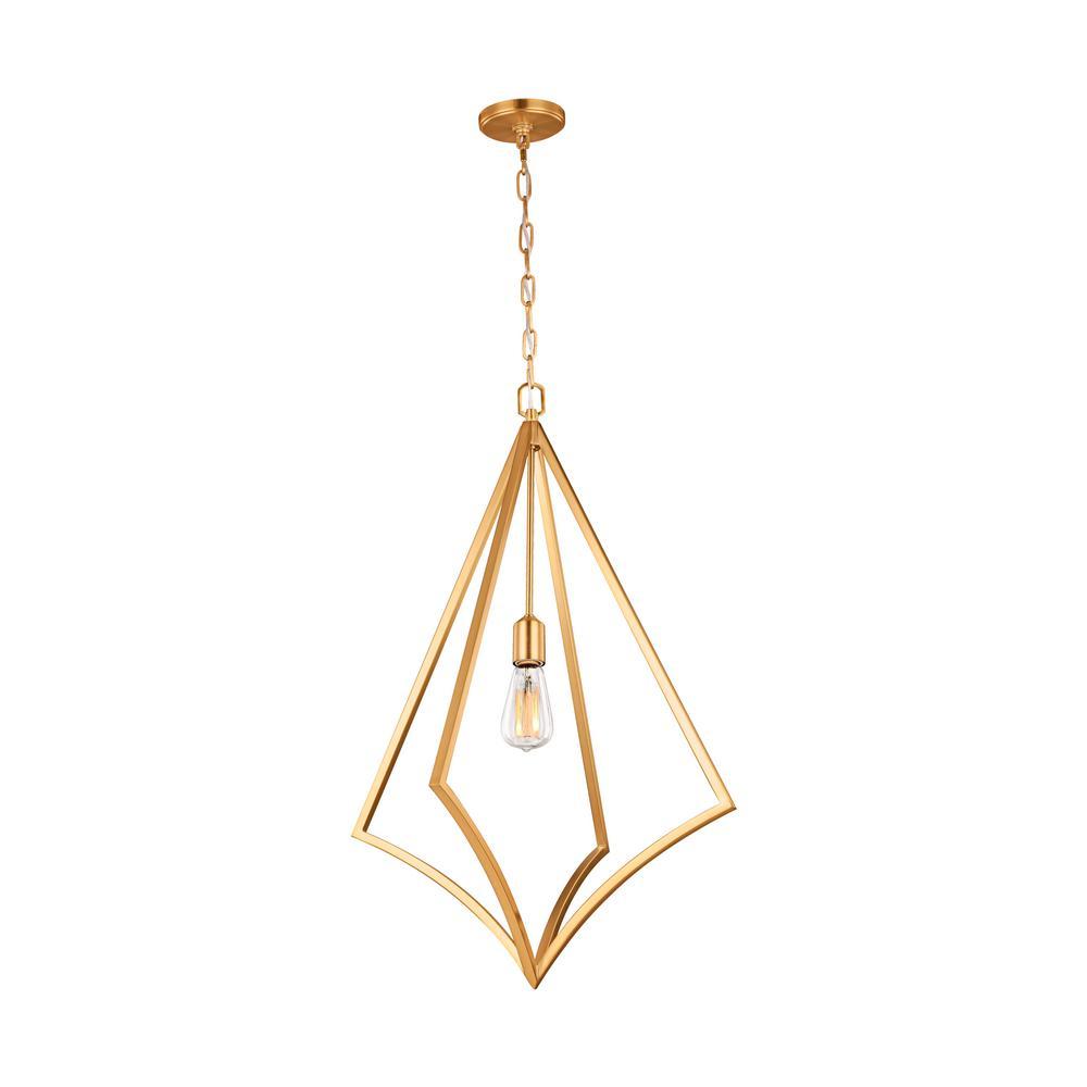 Nico 1-Light Burnished Brass Pendant