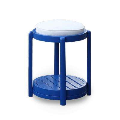 York Round Wood Outdoor Side Table