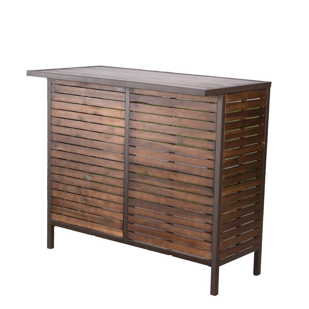Cheryl wood outdoor bar stool