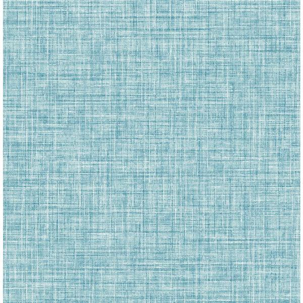 8 In X 10 In Barbary Blue Crosshatch Texture Wallpaper Sample