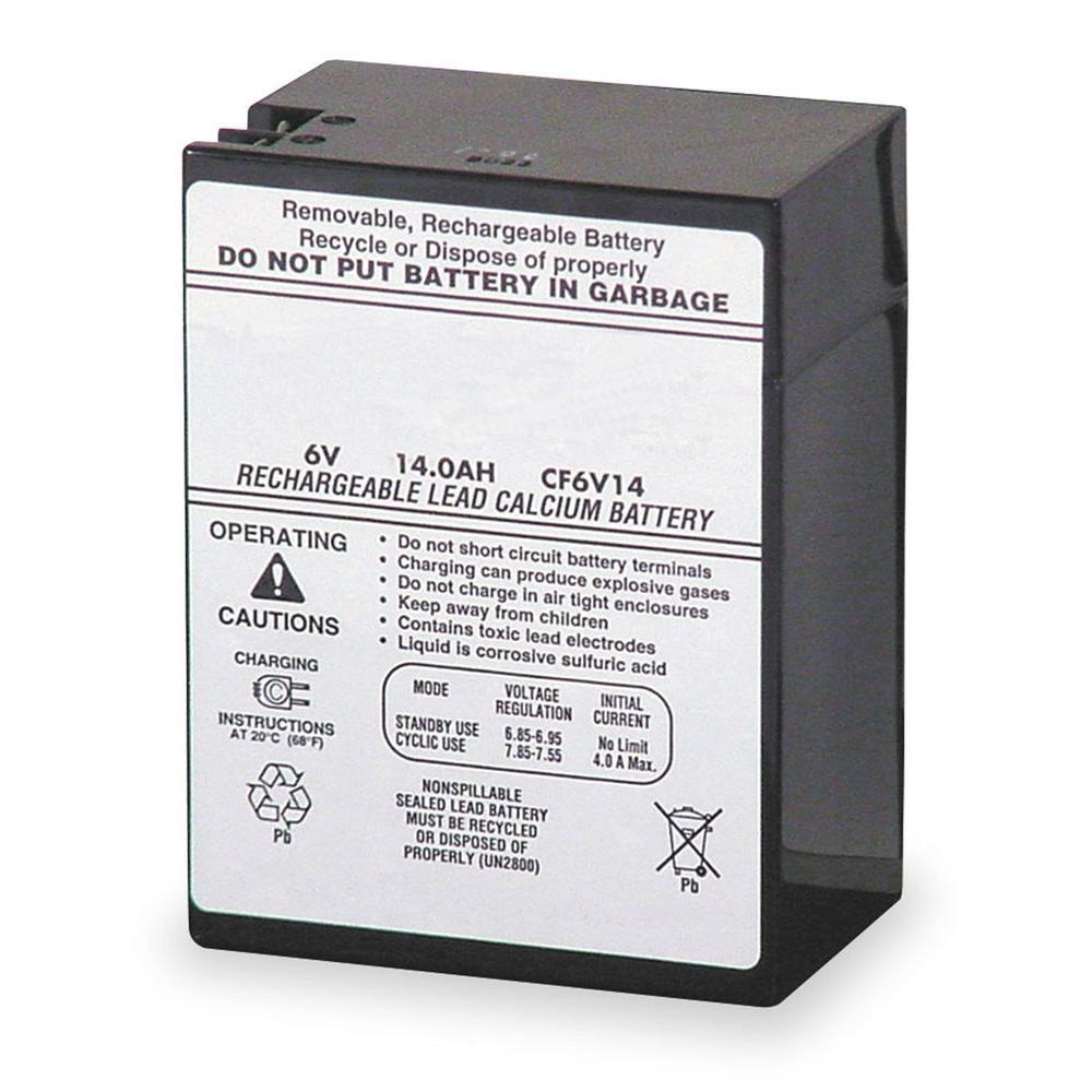Lithonia Lighting Emergency Light Battery: Lithonia Lighting ELB 0614 6-Volt Emergency Replacement
