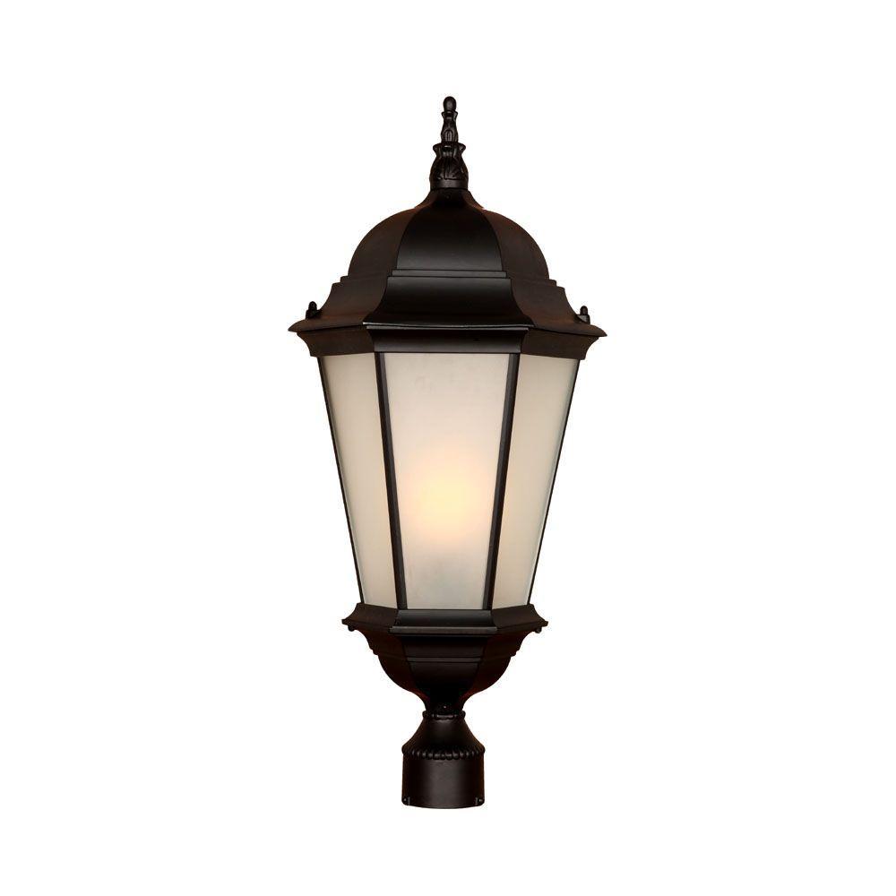 Acclaim Lighting Somerset 1 Light Matte Black Outdoor Post: Acclaim Lighting Richmond 1-Light Matte Black Outdoor Post