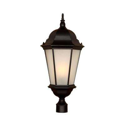 Richmond 1-Light Matte Black Outdoor Post-Mount Light Fixture