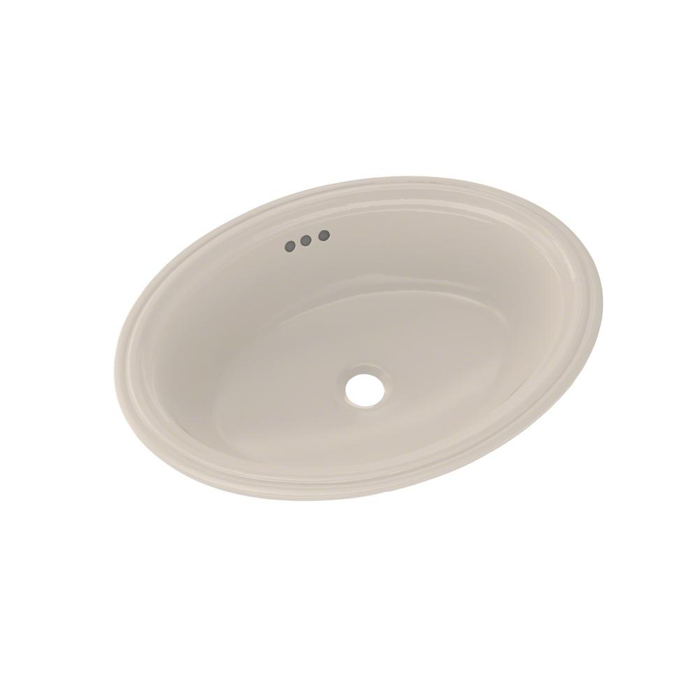 Toto Dartmouth 19 In Undermount Bathroom Sink In Sedona Beige Lt641 12 The Home Depot