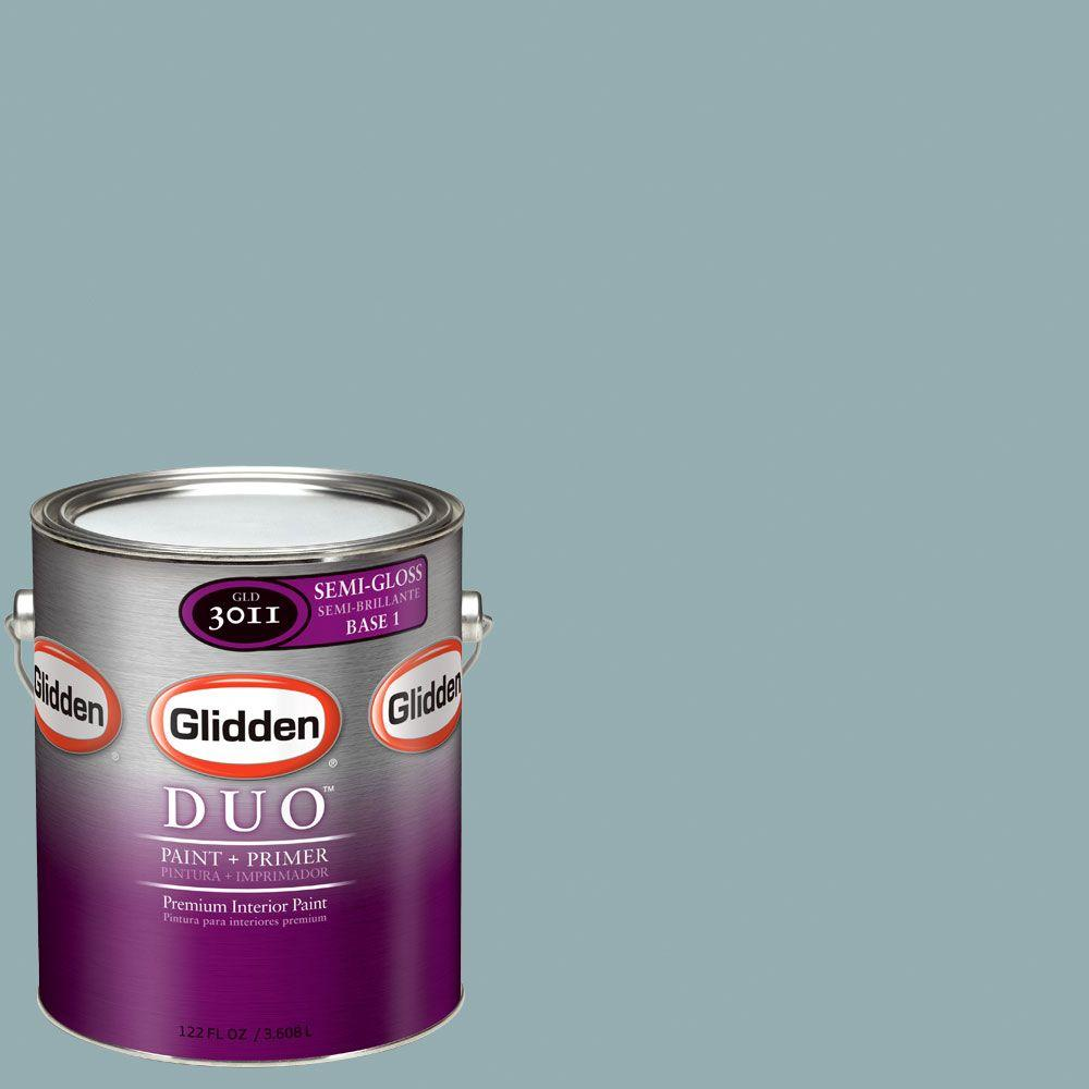 Glidden DUO Martha Stewart Living 1-gal. #MSL127-01S Geyser Semi-Gloss Interior Paint with Primer - DISCONTINUED