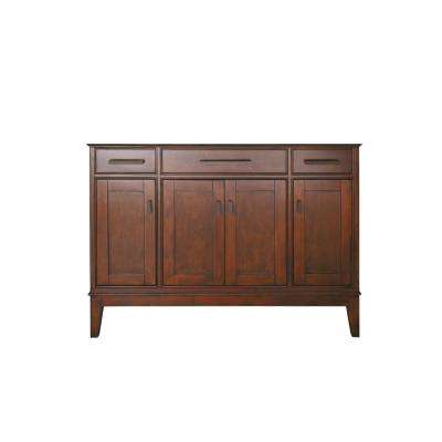 Madison 48 in. W x 21 in. D x 34 in. H Vanity Cabinet Only in Tobacco