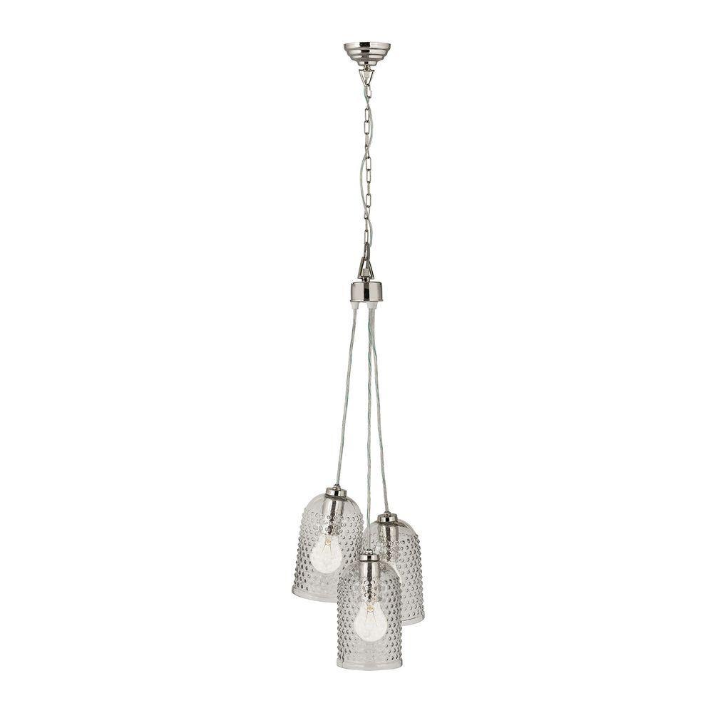 titan lighting hammered glass 3 light clear pendant cluster tn