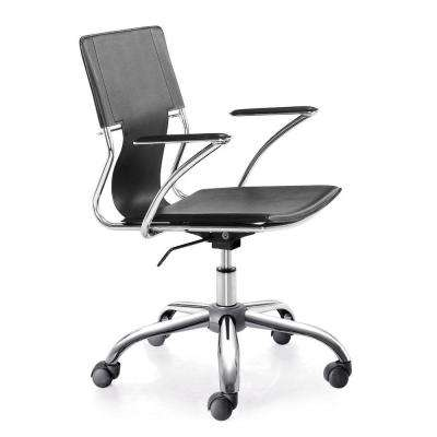 Trafico Black Leatherette Office Chair