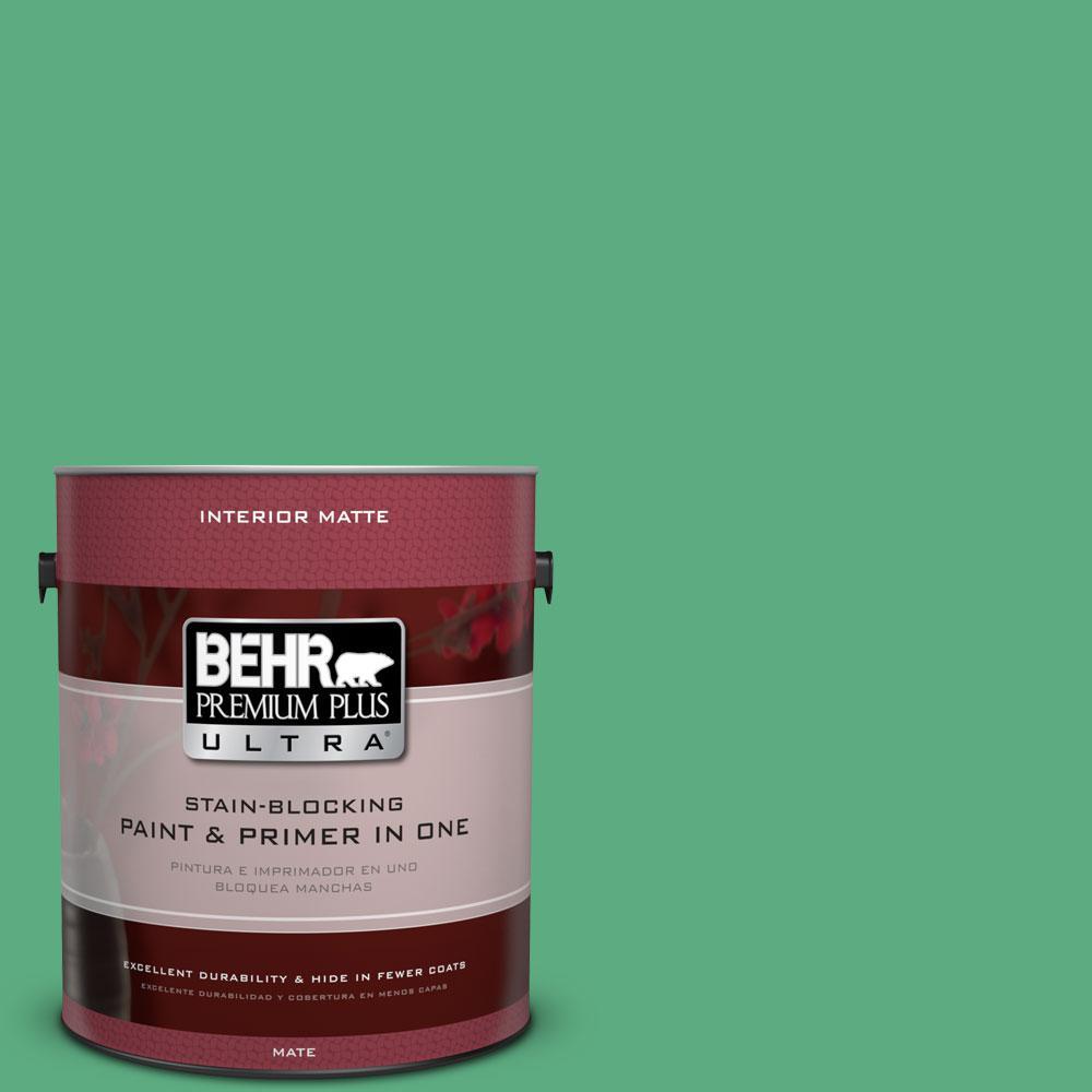 BEHR Premium Plus Ultra 1 gal. #T14-4 Edgewater Flat/Matte Interior Paint