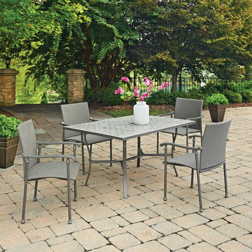 Home Styles Umbria 5 Piece Concrete Outdoor Dining Set