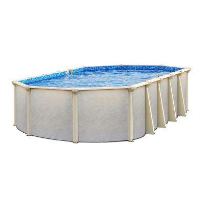 Floridian 21 ft. x 41 ft. 52 in. Deep Oval Above-Ground Pool Package with 7 in. Top Rail