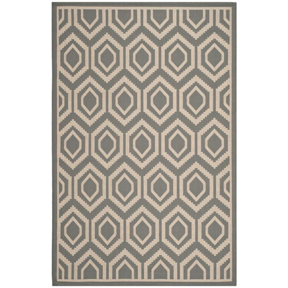 Courtyard Anthracite/Beige 5 ft. 3 in. x 7 ft. 7 in.