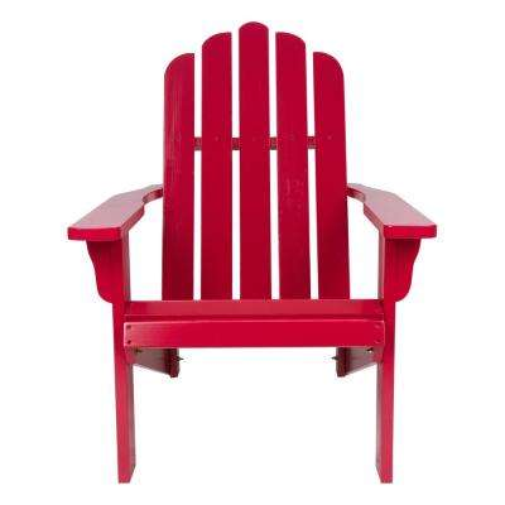 Marina Cedar Wood Adirondack Chair - Chili Pepper