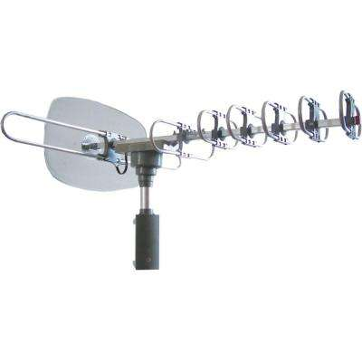 High-Powered Amplified Motorized Outdoor ATSC Digital TV Antenna with Remote