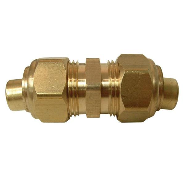 1/2 in. OD Compression Brass Coupling Fitting